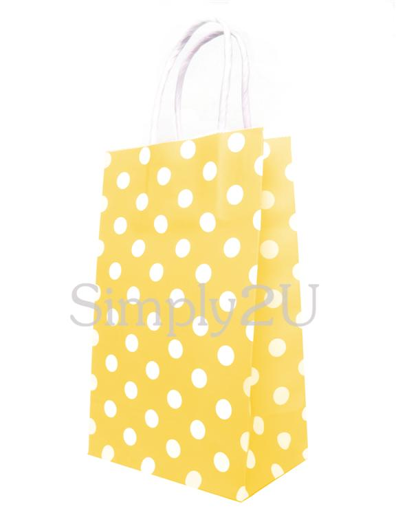 Luxury Polka Dot Paper Party Carrier Gift Bags Kraft With